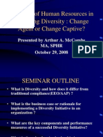 The Role of Human Resources in Managing Diversity