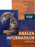 Analiza informatiilor