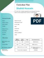 Shahid Hussain CV