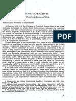 Beck -Apodictic Imperatives (Kant.1958.49.1-4.7)