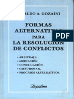 Gozaini - Formas Alternativas Para La Resolucion de Conflict (1)