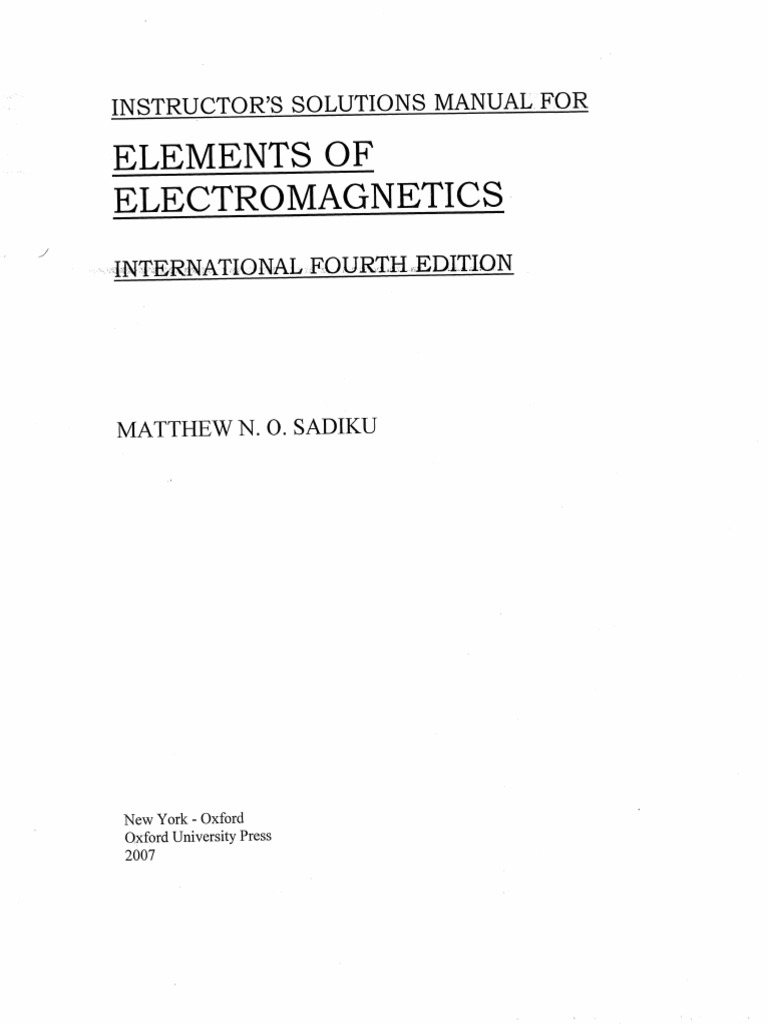 Elements of electromagnetics 5th edition   rent 9780195387759.
