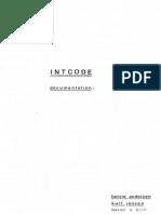 INTCODE Documentation