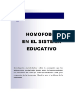 Homofobia en El Sistema Educativo