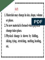 Physical Change Parin