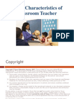 Positive Characteristics of a Classroom Teacher