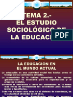 Tema 2.- El Estudio Sociológico de La Educación