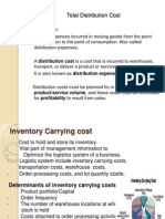 Total Cost of Distribution