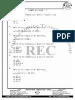 C Sample Questions - 1
