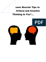 Brain Power Booster Tips to Release Critical and Creative Thinking in You