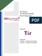 Tor Browser Bundle - IsEC Deliverable 1.3
