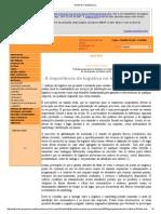 [ Notícias Hospitalares ]_ a Importancia Da Ligistica Hospitalar
