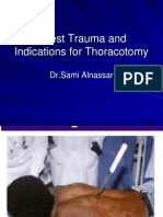 Chest Trauma and Indication for Thoracotomy