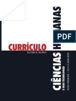 Currículo Do Estado de São Paulo - Ciências Humanas
