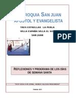 Programa de Semana Santa- San Juan 2014