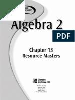 Chapter 10 Hw Coterminal Angles Glencoe Algebra II
