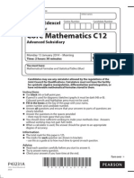 January 2014 - Question Paper - Core Mathematics C12