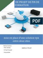 Mise en Place d'Une Solution VPN Entre Deux Sites