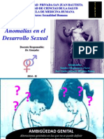 Anomalías en El Desarrollo Sexual 2014