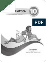 Guia de Docente 10mo EGB Matematica