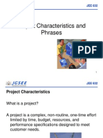 Chapter I Project Characteristics