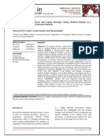 Stressors, Coursework Stress and Coping Strategies among Medical Students in a Private Medical School of Karachi, Pakistan