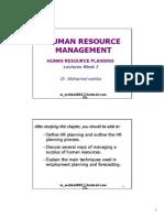 CH3 Human Resource Planning
