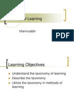 Taxonomy of Learning,Dr.irfanuddin