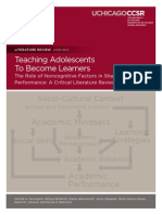 Teaching Adolescents to Become Learners (CCSR Literature Review June 2012)
