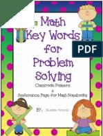 4 Math -- Math Problem Solving Key Words