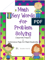 4 Math -- Math Problem Solving Key Words