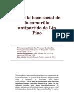 Sobre La Base Social de La Camarilla Antipartido de Lin Piao