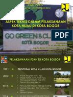 Aspek Teknis Dalam Pelaksanaan Kota Hijau di kota Bogor