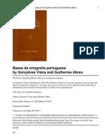 Bases Da Ortografia Portuguesa de Gonçalves Viana e Guilherme Abreu