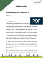 Hamilton Alexander-El Federalista