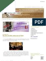Pastoral Santiago_ Un coro coruñés canta para el Papa