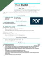 blue resume ad practice