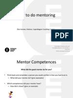 How to Do Mentoring Else Iversen