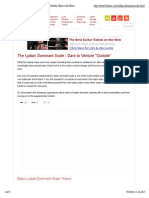 The Lydian Dominant Scale - Dare to Venture Outside Major and Minor