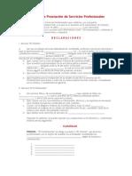 Contrato de Prestacin de Servicios Profesionales
