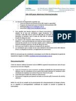 Informacion Útil Estudiantes Internacionales