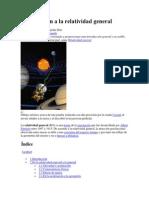Introducción a La Relatividad General