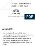 A Presentation on 'Corporate Social Responsibility'