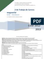 Plan Anual Carrera Magisterial Danny 2012