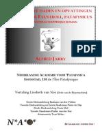 Dr Faustroll (VIII) & NAO's Patafysica (v)
