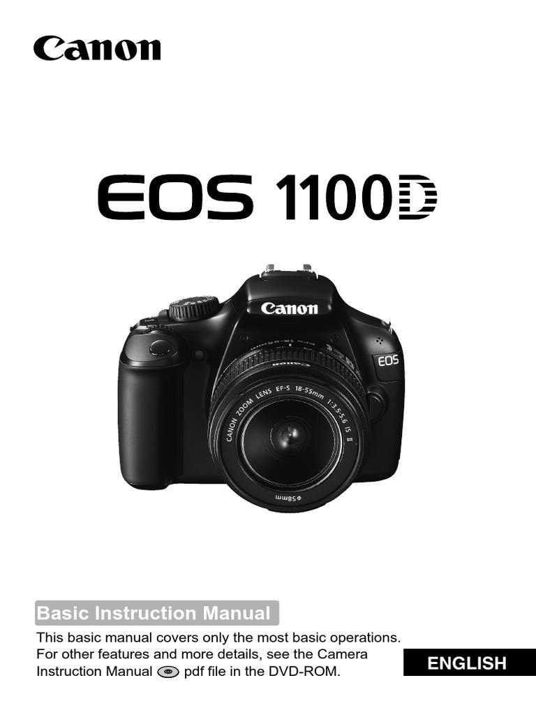 CANON EOS 1100D Basic Instruction Manual en v1.0 | Image Stabilization |  Autofocus