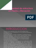 Irregularidad de estructura en Planta y Elevaci�n