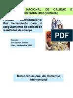 José Camero Jiménez - Pruebas Interlaboratorio