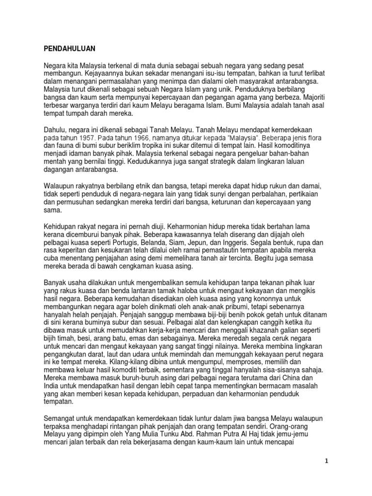Masalah Perpaduan Di Malaysia