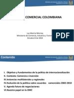02 Luz Marina Monroy Politica Comercial de Colombia (Foro USA-OMC Oct2010) (1)